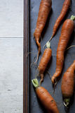 Fresh young biological orange carrots Stock Photo