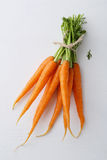 Fresh young carrots on white background. Food background Stock Photo