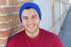 Fresh young male smiling isolated.  Stock Photo