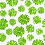 Fresh and yummy green lime seamless pattern royalty free illustration