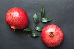 Fresh yummy pomegranates
