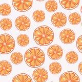 Fresh, yummy and sliced orange seamless pattern royalty free illustration