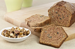 Fresh zucchini bread Stock Photography