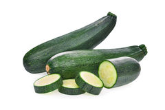 Fresh zucchini cucumber isolated on white. Background Royalty Free Stock Images