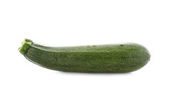 Fresh zucchini isolated on white Royalty Free Stock Photography
