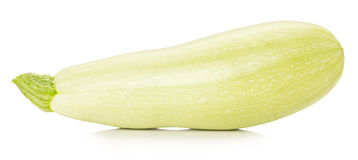 Fresh zucchini isolated on a white background Royalty Free Stock Photography