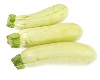 The fresh zucchini isolated on white background. Royalty Free Stock Photo