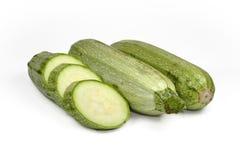 Fresh zucchini  on white. Stock Images