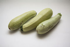 Fresh zucchini on white Royalty Free Stock Photos