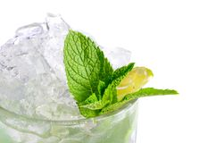 Freshening cocktail with ice and mint Royalty Free Stock Photo