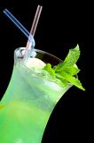 Freshening cocktail with ice and mint Stock Image