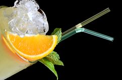 Freshening cocktail with ice and mint Stock Images