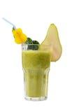 Freshening pear smoothie  isolated on white Stock Photos