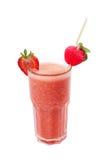 Freshening strawberry smoothie  isolated on white Royalty Free Stock Images