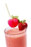 Freshening strawberry smoothie  isolated on white Stock Image