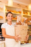 The freshest bread for our customers. Stock Photos