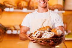 The freshest bread for you. Stock Images