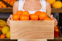 The freshest tangerines. Stock Image