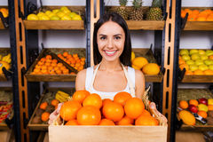 The freshest tangerines for you. Royalty Free Stock Photo