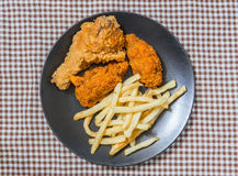 Freshfried, chicken strips Royalty Free Stock Image