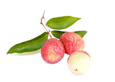 Freshing & delicious lychee. Isolated,freshing & delicious lychee Royalty Free Stock Photo