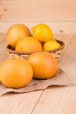 Freshl grapefruits Obrazy Royalty Free