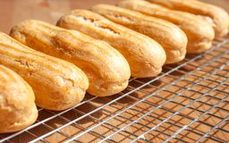 Empty eclair shells royalty free stock images