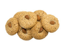 Freshly Baked Almond Cookies Royalty Free Stock Photos