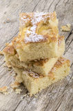 Freshly baked apple cake with almond flakes Stock Photography