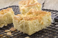 Freshly baked apple cake with almond flakes Stock Image