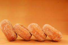 Freshly Baked Apple Cinnamon Doughnuts Stock Photos