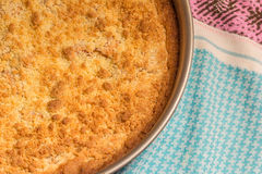 Freshly baked apple crumble pie in a springform Stock Images
