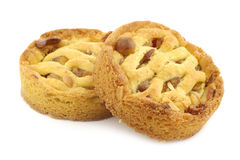 Freshly baked apple and nuts cakes Royalty Free Stock Images
