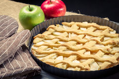 Freshly baked apple pie with fruits Royalty Free Stock Image