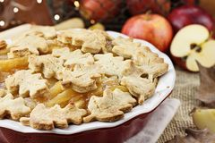 Pretty Baked Apple Pie Royalty Free Stock Photography