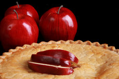 Freshly baked apple pie Stock Image