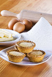 Freshly baked apple pies royalty free stock photography