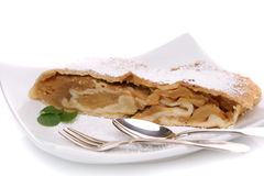 Freshly baked apple strudel Stock Photo