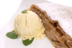 Freshly baked apple strudel Royalty Free Stock Image