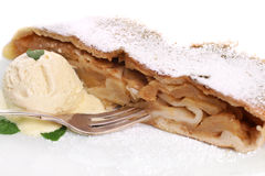 Freshly baked apple strudel Royalty Free Stock Photos