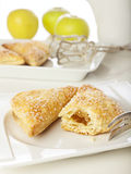 Freshly baked apple turnovers Stock Photos
