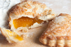 Freshly baked apricot turnover Stock Image