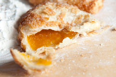 Freshly baked apricot turnover Royalty Free Stock Images