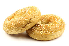 Freshly baked bagels Stock Photo
