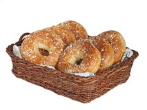 Freshly baked bagels Royalty Free Stock Photo