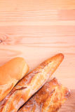 Freshly baked baguette and bread Stock Images