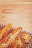 Freshly baked baguette and bread Royalty Free Stock Photo