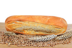 Freshly baked baguette Stock Photos