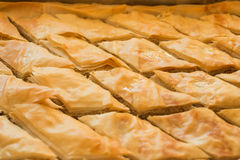 Freshly baked baklava pastry Royalty Free Stock Photo
