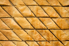Freshly baked baklava pastry Stock Photos